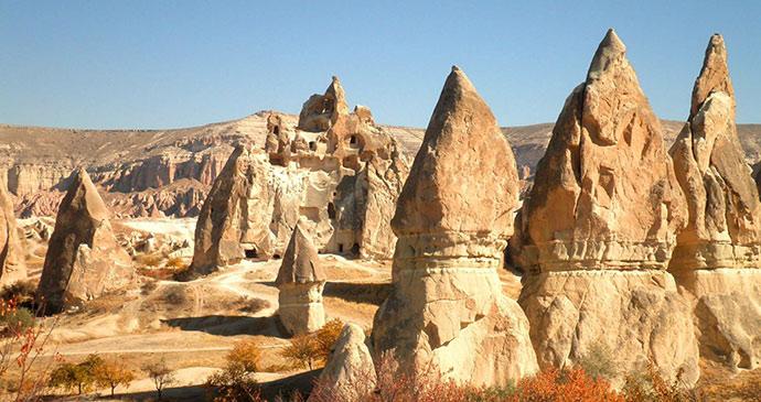 fairy chimneys cappadocia eastern turkey by nikonomad shutterstock