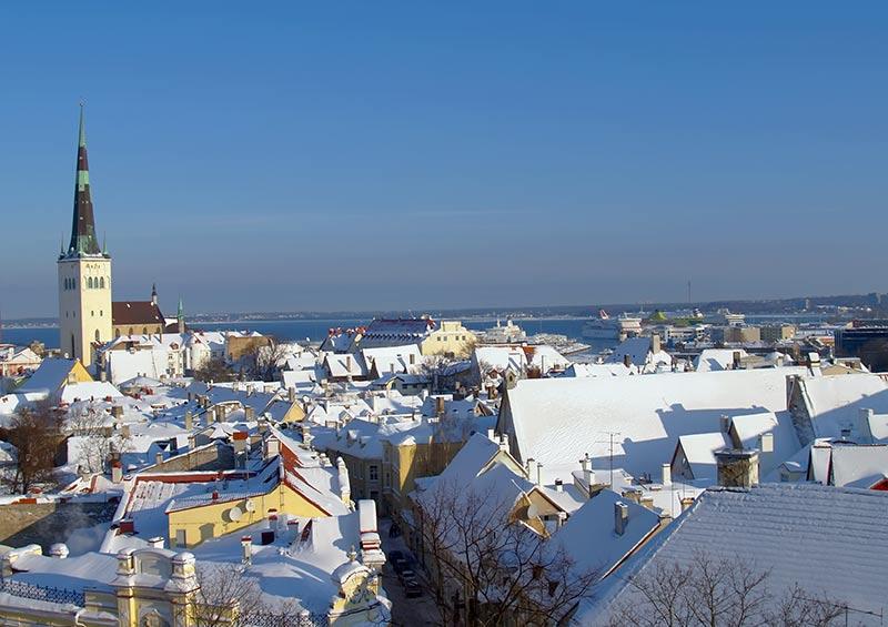 The snowy roofs of Tallinn in winter, Estonia by lem, Shutterstock