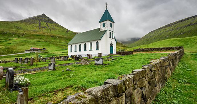 church, Gjogv, Faroe Islands © Nick Fox, Shutterstock