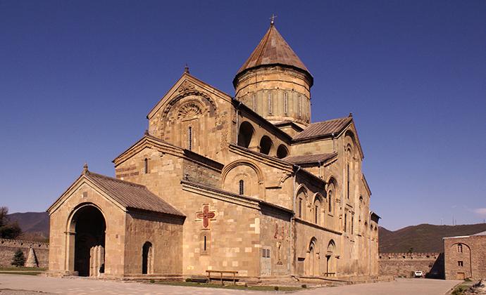 Sveti Tskhoveli Mtskheta Tbilisi Georgia by Wikimedia Commons