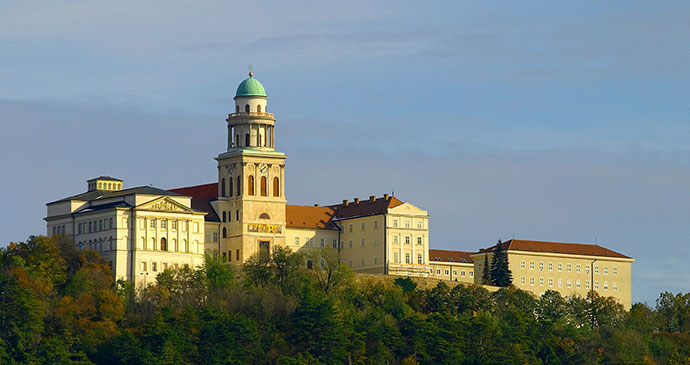 Pannonhalma Abbey Hungary Europe by Zoltan Kakuszi Shutterstock