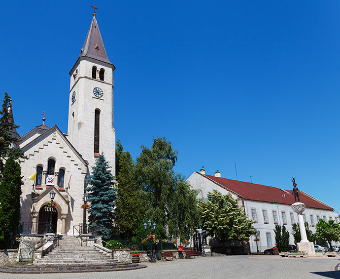 Roman Catholic Church Tokaj Hungary Europe by dzika_mrowka Shutterstock