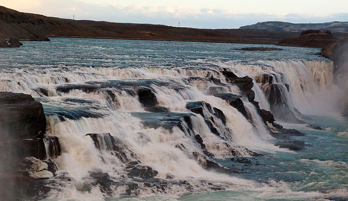Gullfoss, Iceland by Delusion23, Wikimedia Commons