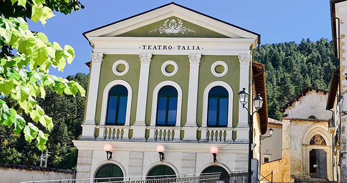 Talia Theatre, Tagliacozzo, Abruzzo, Italy, adamico, shutterstock