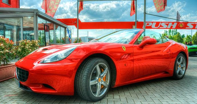 Ferrari Modena Emilia-Romagna Italy by CervellilnFuga, Shutterstock