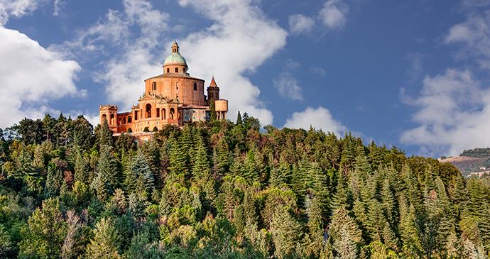 Madonna di San Luca Bologna Emilia-Romagna Italy by Ermess, Shutterstock