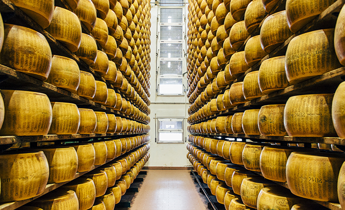Parmigiano-Reggiano cheese Emilia-Romagna Italy by Emilia-Romagna Tourist Board