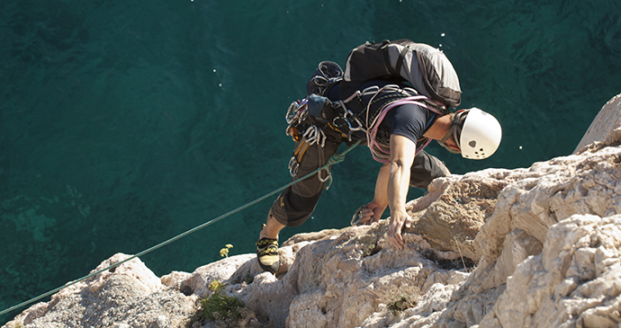 Climbing, Liguria, Italy by Photo Archive Regional Agency in Liguria