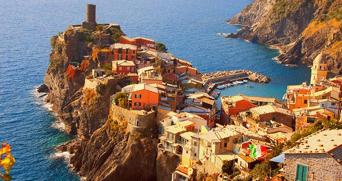Corniglia, Liguria, Italy by Sternstunden, Shutterstock