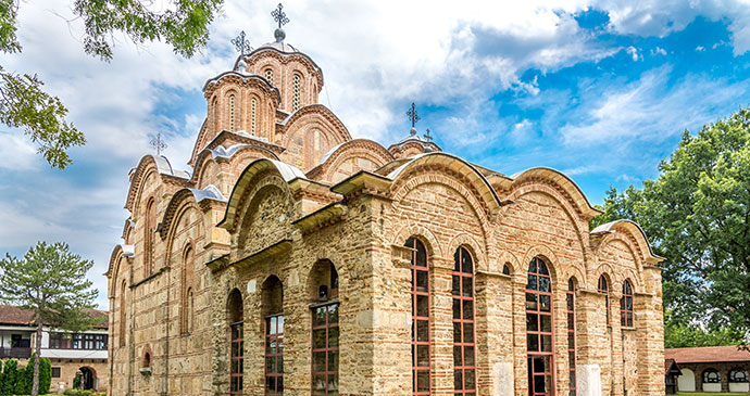 Gracanica Monastery Kosovo by creed, Shutterstock