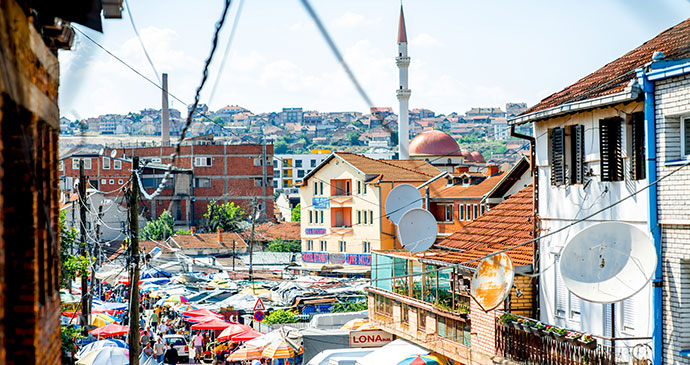 Market street, Pristina by RossHelen, Shutterstock