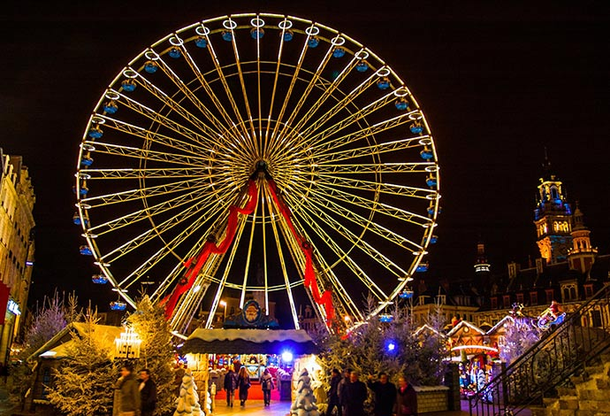 Christmas market Lille France by Meiqianbao Shutterstock