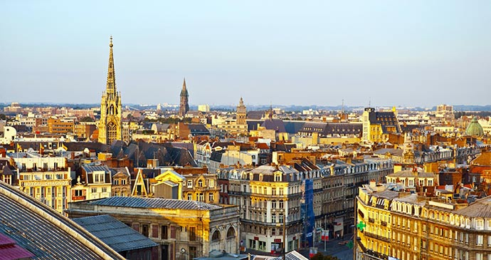 The view over Lille France by Meiqianbao Shutterstock