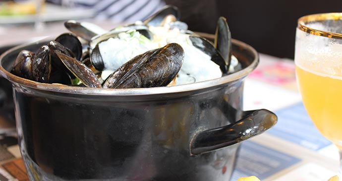 Moules-frites Lille France by Anna Moores