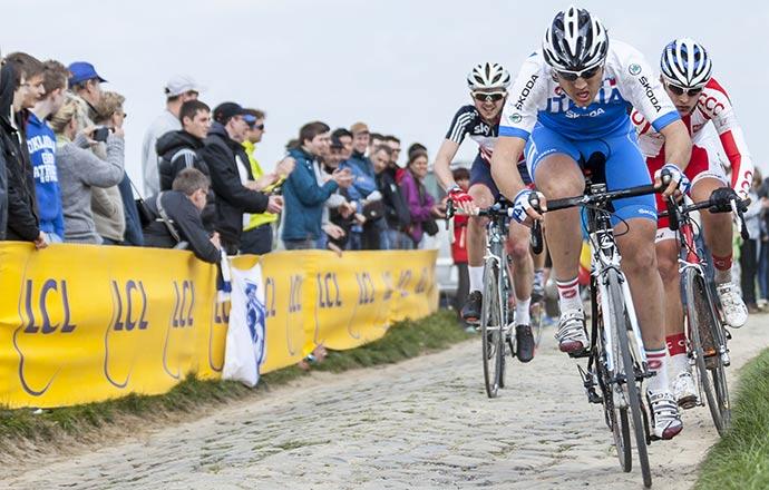 Paris-Roubaix cycle race Lille France by Radu Razvan Shutterstock
