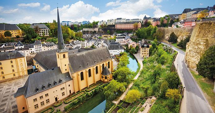 Neumunster Abbey Luxembourg by wilk, Shutterstock