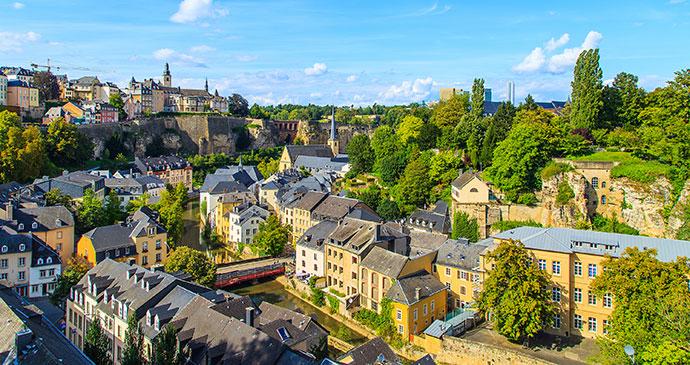 Luxembourg City Luxembourg Europe by Marcin Krzyzak, Shutterstock