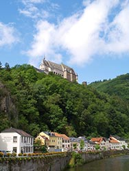 Vianden Castle Luxembourg Europe by Tim Skelton