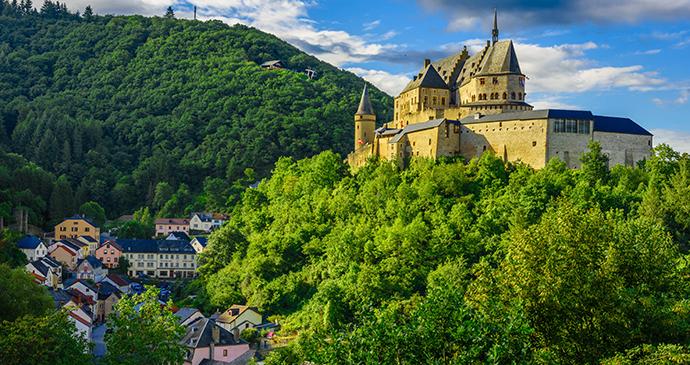 Vianden Castle Vianden Luxembourg Europe by Mikel Trako