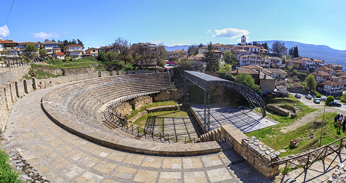 Roman amphitheatre, amphitheatres Ohrid North Macedonia by ColorMaker Shutterstock