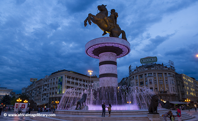 Warrior on a Horse Skopje North Macedonia by Philip Briggs