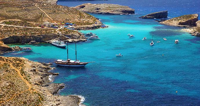 Blue Lagoon, Comino, Malta by www.viewingmalta.com