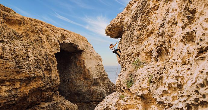 Rock climbing Gozo Malta by Visit Malta
