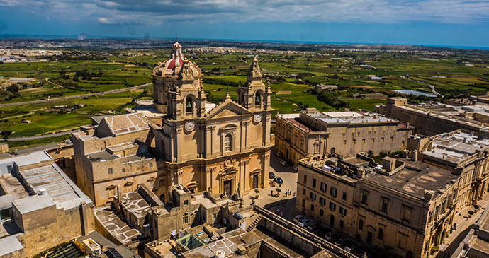 Mdina Cathedral Malta by © www.viewingmalta.com