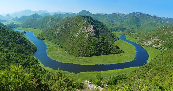 Skadar Lake national park Montenegro