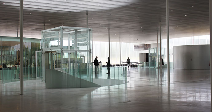 Entrance hall of the Louvre-Lens, Nord-Pas de Calais by Bradt Travel Guides