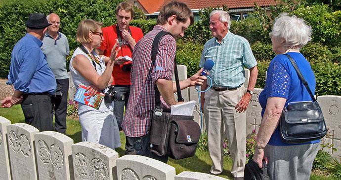 Finding relative at Bailleul Cemetery, Nord-Pas de Calais by John Ruler