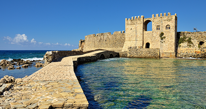 Methoni castle Peloponnese Greece Europe by Oleg Znamenskiy Shutterstock