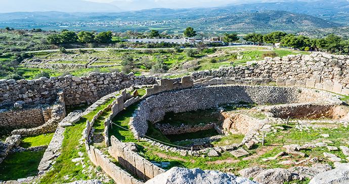 Mycenae, peloponnese, Greece © RODKARV, Shutterstock