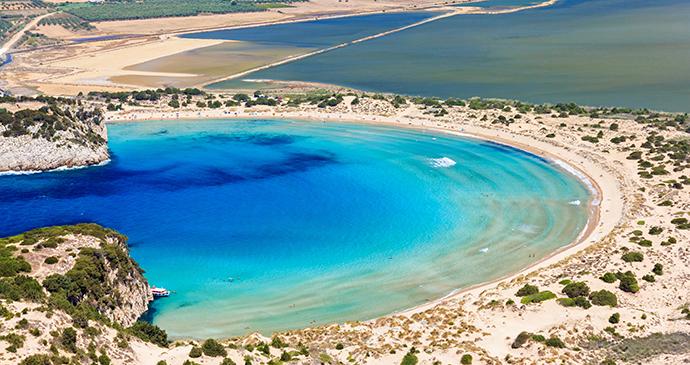 Voidokilia beach Peloponnese Greece Europe by PNIK Shutterstock