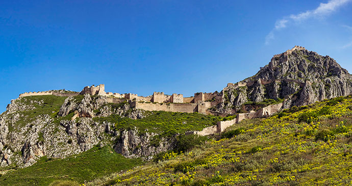 Acrocorinth Ancient Corinth The Peloponnese Greece by TakB Shutterstock