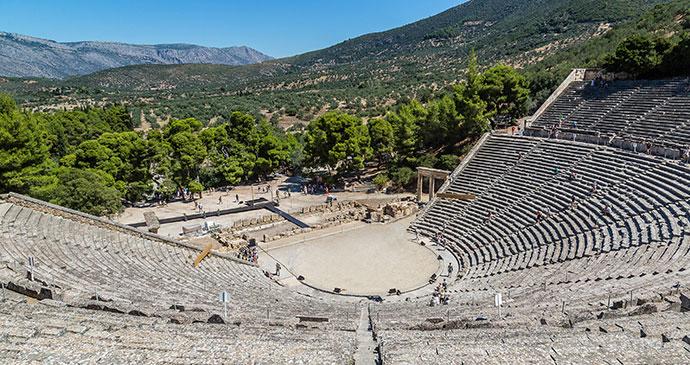 Epidavros Epidauros Peloponnese Greece by S-F Shutterstock