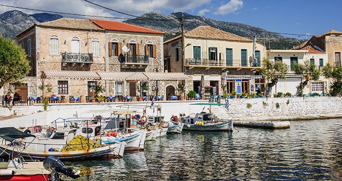 Fishing port Mani peninsula Peloponnese Greece by RnDmS, Shutterstock