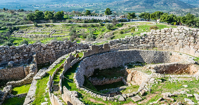 Mycenae The Peloponnese Greece by RODKARV Shutterstock