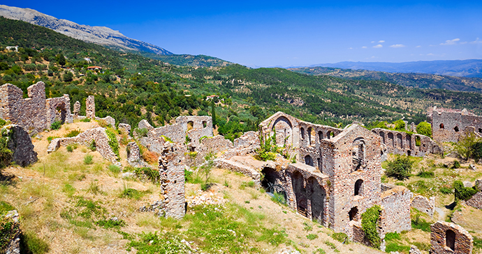 Ruins of Mystra Peloponnese Greece Europe by Tatiana Popova, Shutterstock