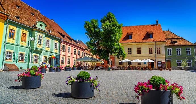 Sighişoara, Transylvania, Romania by Gaspar Janos, Shutterstock