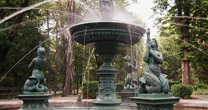 Fountain, Vršac, Serbia by ELena Lupsor, Wikimedia Commons