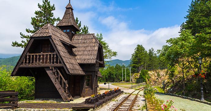 Jatape station, Šargan Eight railway, Mokra Gora, Serbia by Tomasz Wozniak, Shutterstock