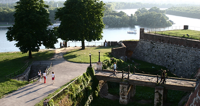Sava, Danube, Kalemegdan, Belgrade, Serbia by The confluence of the Sava and Danube beneath Kalemegdan © B.Jovanovic, Archive National Tourism Organisation Serbia