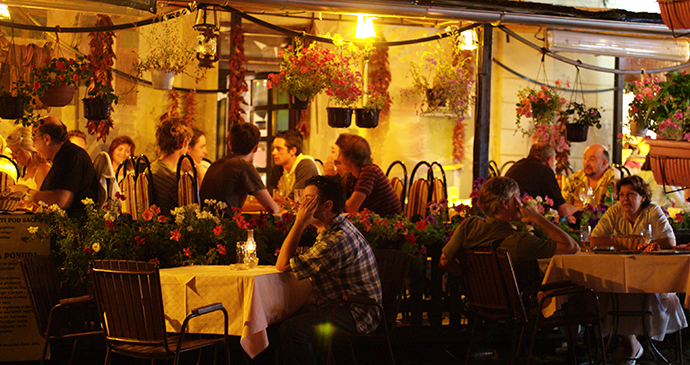 Restaurant, Skadarlija, Belgrade, Serbia by B. Jovanovic, Archive National Tourism Organisation Serbia