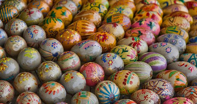 Painted eggs Serbia by Antony Stanley