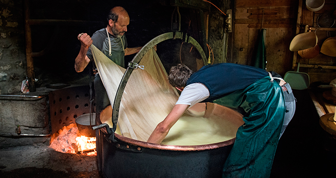 Cheesemaking Murith family near Gruyere by Andre Meier Tourism