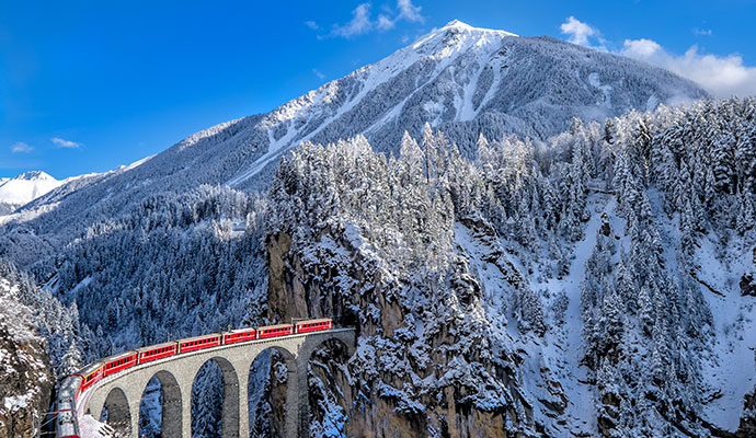 Glacier Express Switzerland by Alessandro Colle Shutterstock