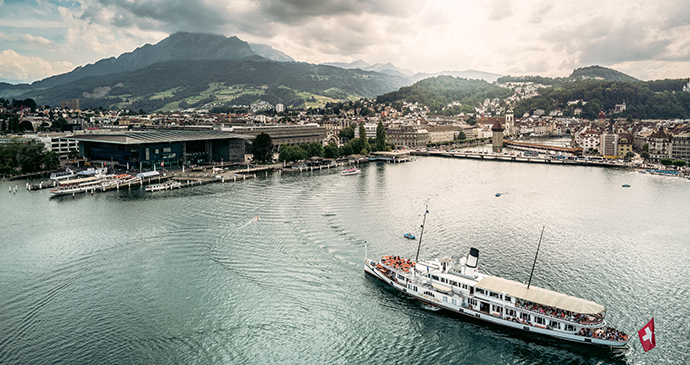 Stadt Luzern III boat Luzern Lake by Ivo Scholz Switzerland Tourism