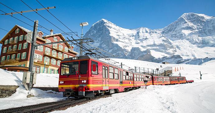 Kleine Scheidegg Station Jungfrau Swtizerland by Victor Maschek Shutterstock