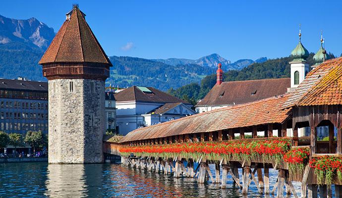 Chapel Bridge, Luzern by Chaoss Shutterstock